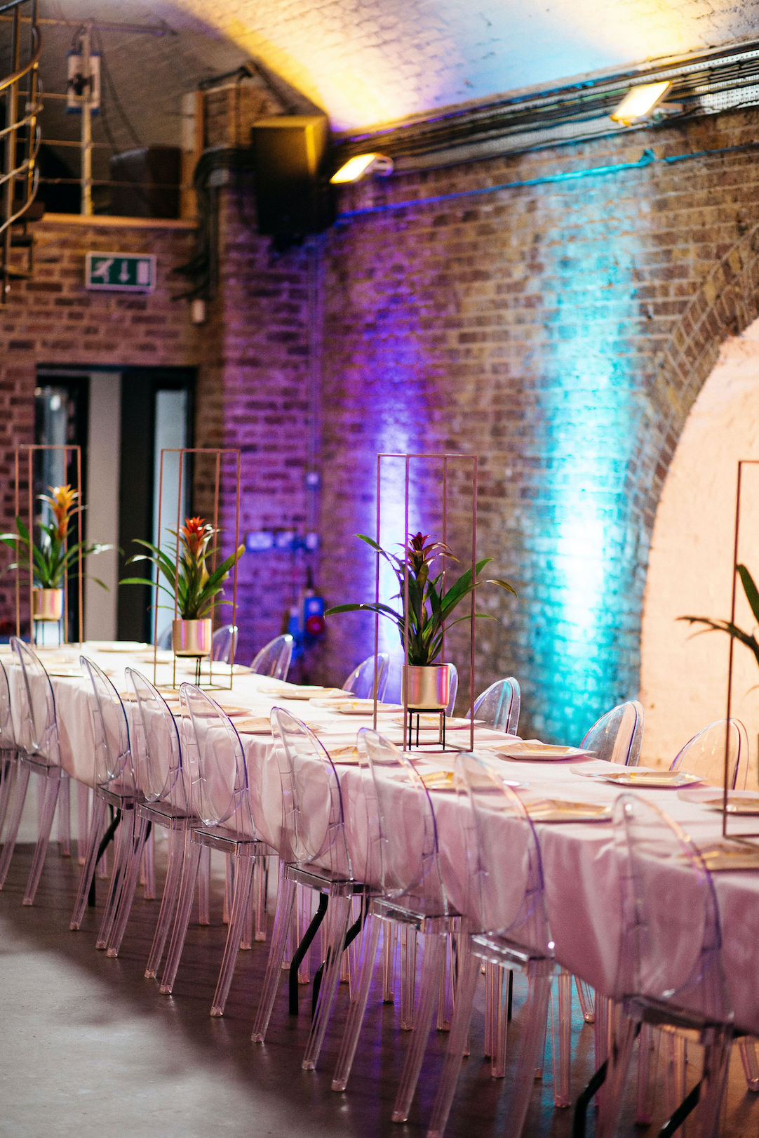 Blank canvas Shoreditch Studios venue wedding setup