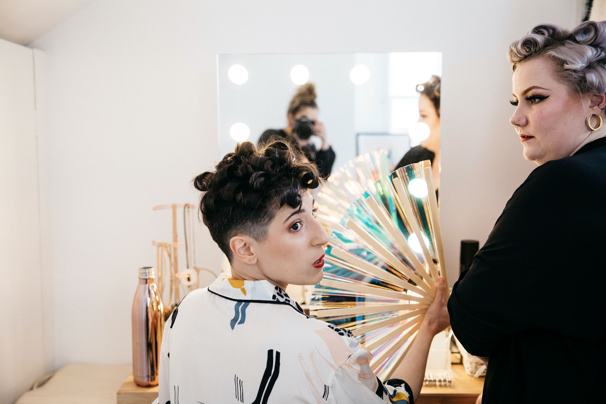 Cool Bride getting ready for her Shoreditch wedding