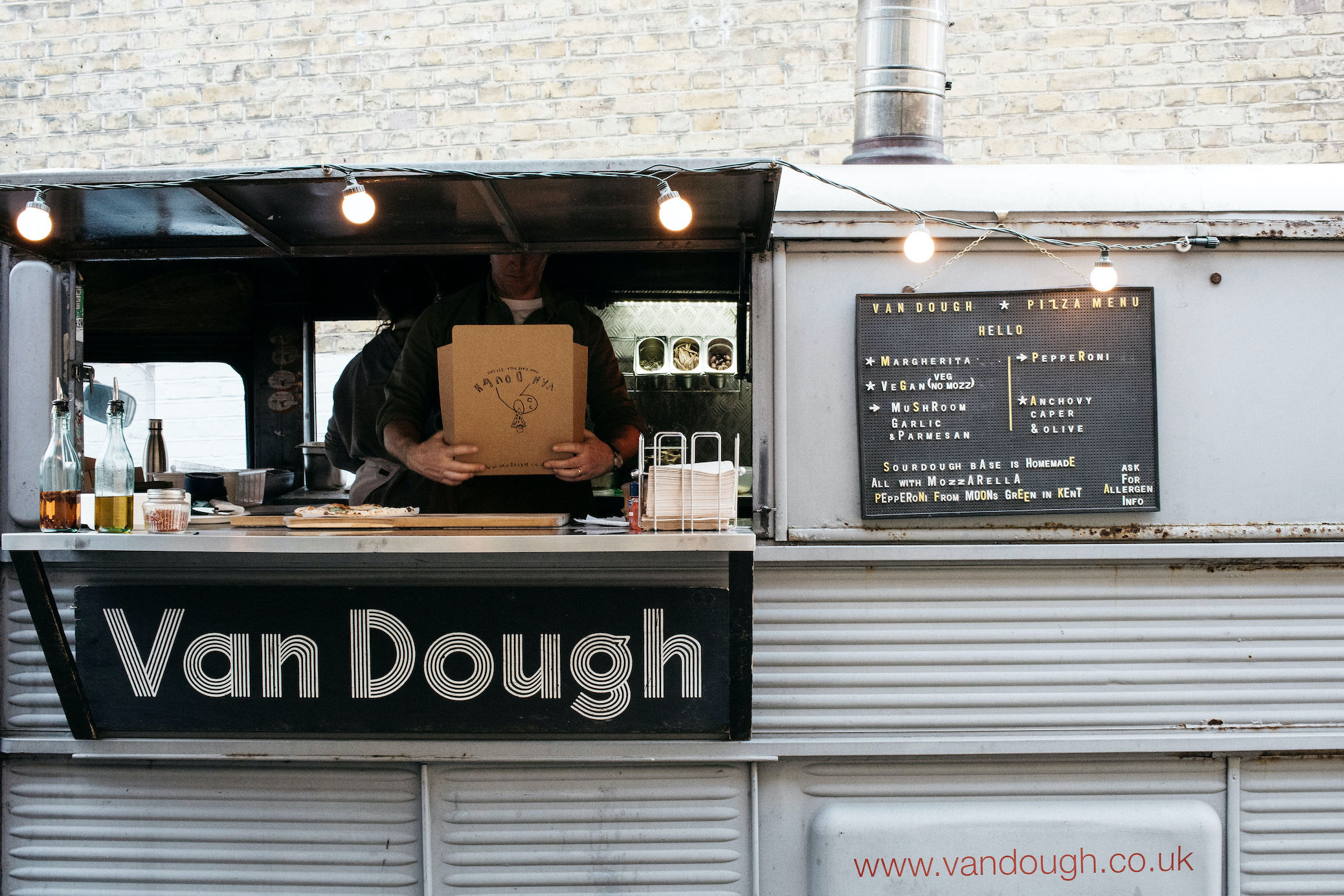 Van Dough pizza van wedding food Shoreditch Studios