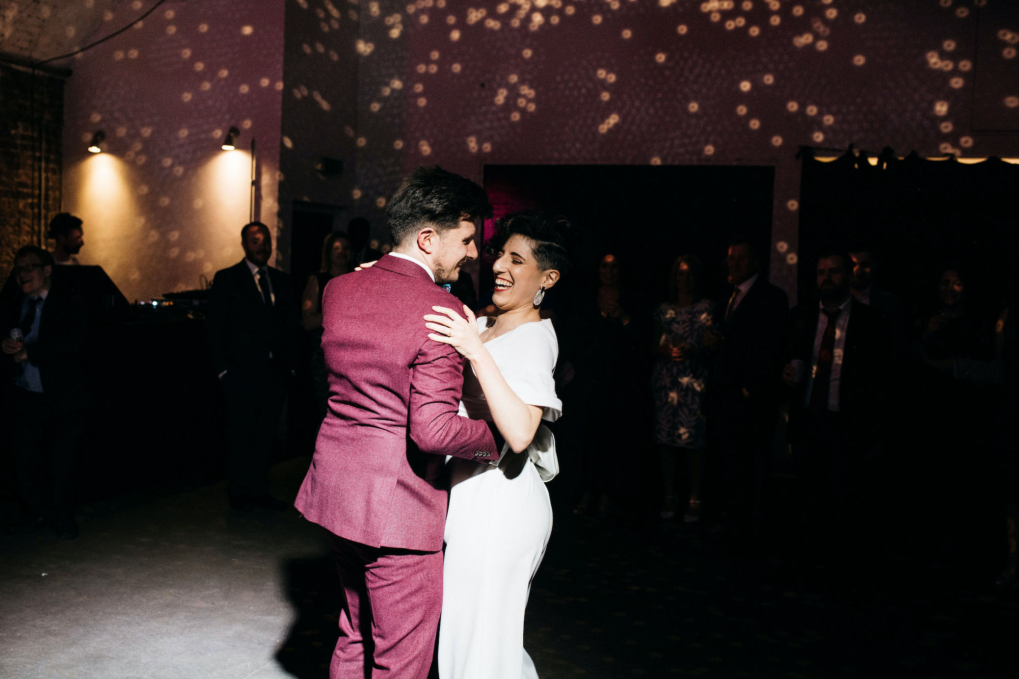 Bride and Groom's first dance at Shoreditch Studios