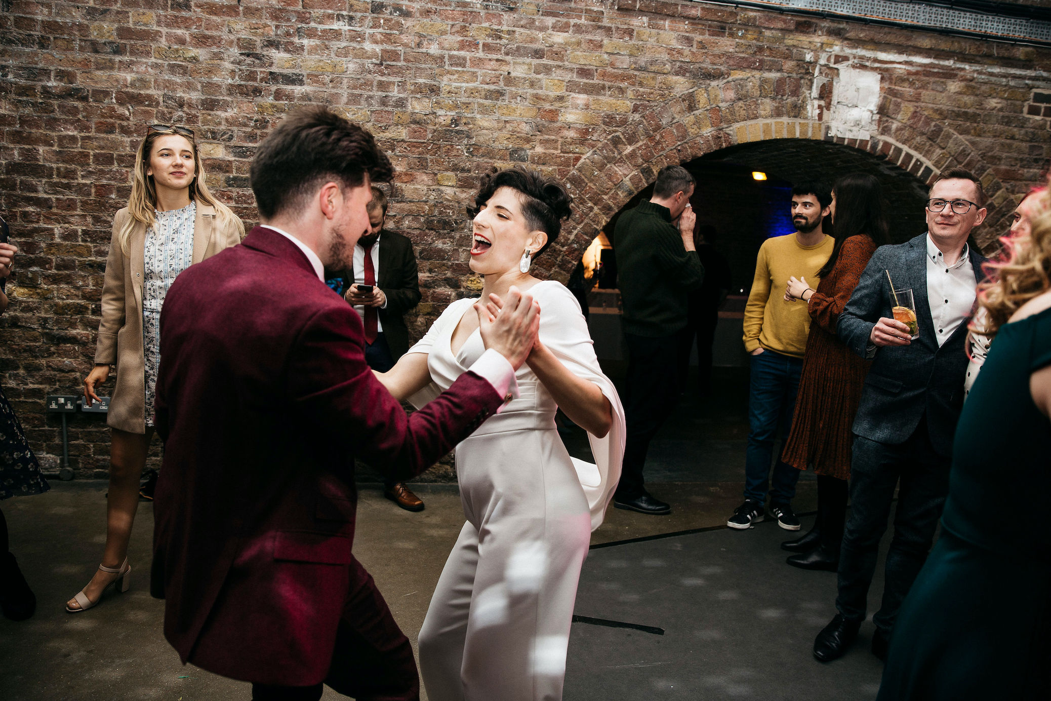 Bride and Groom have a dance at their fun Shoreditch Studios