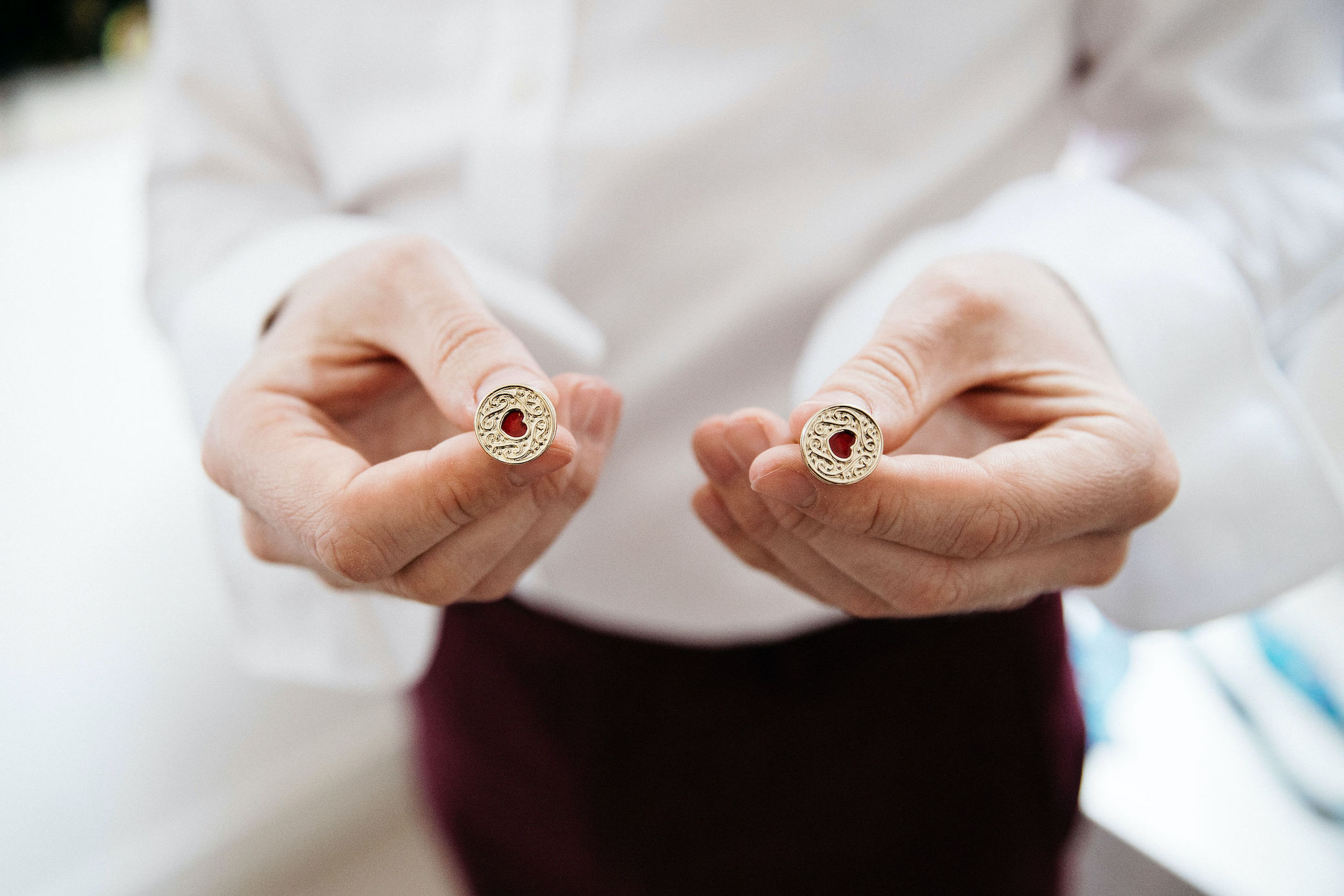 Groom's cool cufflinks