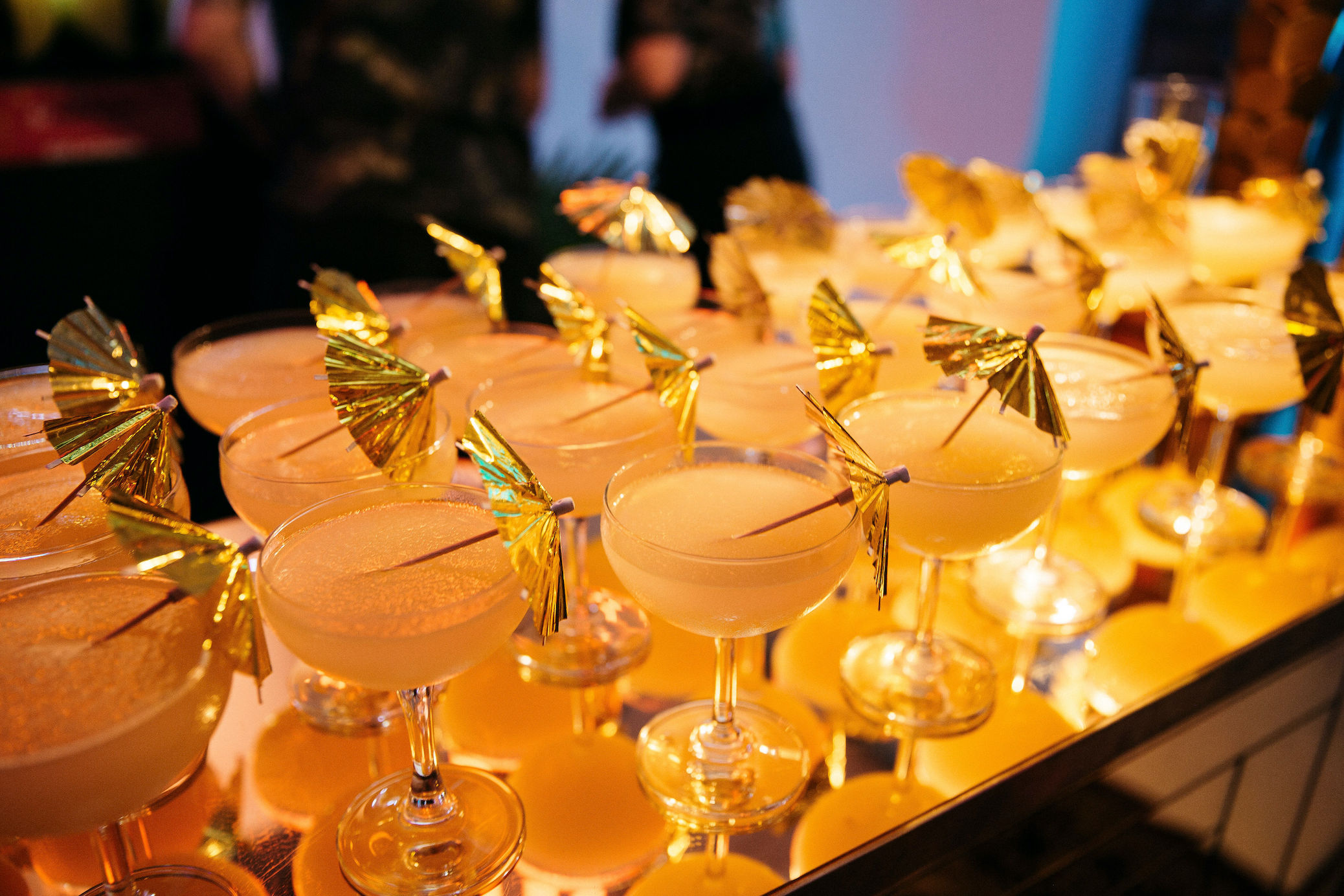 Frozen margaritas for wedding guests