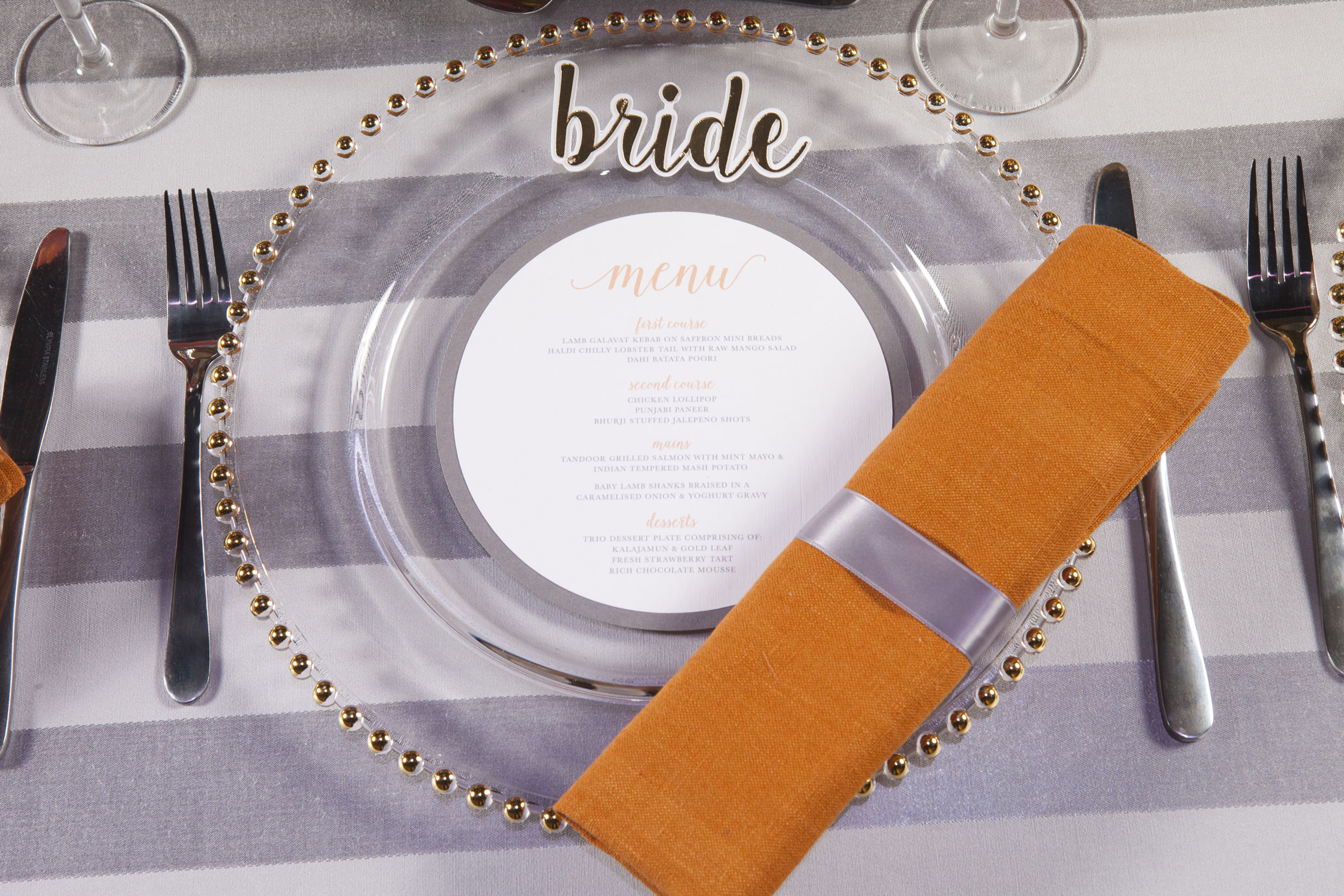Bride place setting